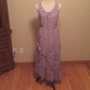 Kensie new purple floral maxi dress
